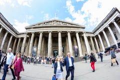 29 07 2015, LONDEN, het UK - British Museum-mening en details Stock Fotografie