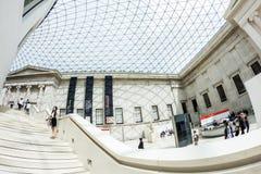 29 07 2015, LONDEN, het UK - British Museum-mening en details Royalty-vrije Stock Afbeeldingen