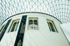 LONDEN, het UK - British Museum-mening en details Royalty-vrije Stock Fotografie
