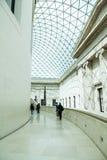 LONDEN, het UK - British Museum-mening en details Stock Foto