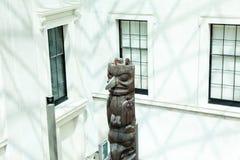 LONDEN, het UK - British Museum-mening en details Stock Afbeelding