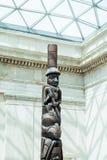 LONDEN, het UK - British Museum-mening en details Royalty-vrije Stock Afbeeldingen