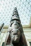 LONDEN, het UK - British Museum-mening en details Royalty-vrije Stock Foto