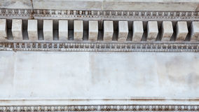 LONDEN, het UK - British Museum-mening en details Royalty-vrije Stock Foto's