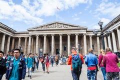 29 07 2015, LONDEN, het UK - British Museum-mening en details Stock Foto's