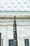 LONDEN, het UK - British Museum-mening en details Stock Fotografie