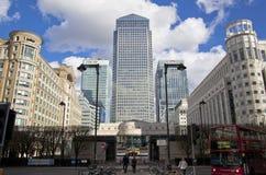 LONDEN, HET UK - CANARY WHARF, 22 MAART, 2014 Royalty-vrije Stock Foto