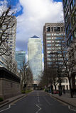 LONDEN, het UK - CANARY WHARF, 22 MAART, weg de van West- 2014 van India Stock Foto's