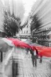 LONDEN, het UK - een regendag Royalty-vrije Stock Afbeeldingen