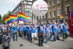 LONDEN, HET UK - 29 JUNI: Het Refrein van de Homoseksuelen van Londen bij de Vrolijke Trots P Royalty-vrije Stock Fotografie