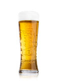 LONDEN, HET UK - 29 MEI, 2017: Koud Glas Carlsberg-bier op wit Het Deense brouwende bedrijf richtte in 1847 op Stock Foto's