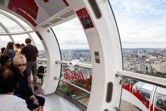 22 07 2015, LONDEN, HET UK Mening van Londen van het Oog van Londen Royalty-vrije Stock Fotografie