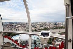 22 07 2015, LONDEN, HET UK Mening van Londen van het Oog van Londen Stock Foto's