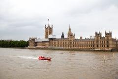 22 07 2015, LONDEN, HET UK Mening van Londen van het Oog van Londen Royalty-vrije Stock Foto
