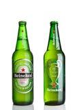 LONDEN, HET UK - 123 OKTOBER, 2016: Fles van Heineken-de liga van Bierkampioenen Heineken is het vlaggeschipproduct van Heineken  Stock Afbeeldingen