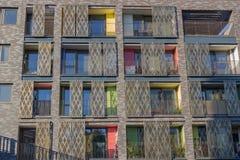 Londen, het UK - 21, Oktober 2018: Moderne architectuur in Londen royalty-vrije stock afbeeldingen