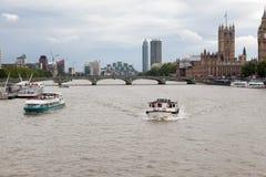 Londen, het UK Panorama van Londen van het Oog van Londen Royalty-vrije Stock Afbeeldingen