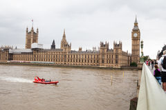 Londen, het UK Panorama van Londen van het Oog van Londen Stock Fotografie