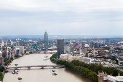 Londen, het UK Panorama van Londen van het Oog van Londen Stock Foto