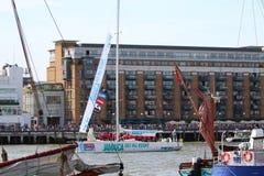 Londen, het UK. 1 September, 2013. Clipper om de Wereld Yac Stock Afbeeldingen