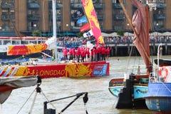 Londen, het UK. 1 September, 2013. Clipper om de Wereld Yac Royalty-vrije Stock Afbeelding