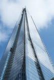 LONDEN, het UK - 29 September: De Scherf, het controversiële oriëntatiepunt Royalty-vrije Stock Foto