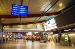 LONDEN, het VERENIGD KONINKRIJK - April 12, 2015: De lege luchthaven van Luton in Londen, het UK Royalty-vrije Stock Foto