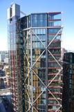 Londen, het Verenigd Koninkrijk - Juli 2017: De gebouwen van Londen Royalty-vrije Stock Fotografie