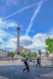 Londen, het Verenigd Koninkrijk - Juli 21, 2017; Trafalgar Square met Ne Stock Foto's