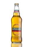 LONDEN, HET VERENIGD KONINKRIJK - MAART 23, 2017: Fles het wit van Amigo'stequila Beeron Een bier door de Fischer-brouwerij wordt Royalty-vrije Stock Afbeeldingen