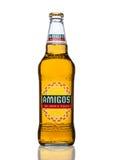 LONDEN, HET VERENIGD KONINKRIJK - MAART 23, 2017: Fles het wit van Amigo'stequila Beeron Een bier door de Fischer-brouwerij wordt Stock Foto's