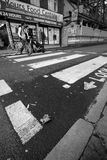 LONDEN - 18 JANUARI: Oud Straatgebied van binnenstad Londen op Januari Stock Foto