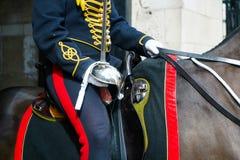 LONDEN - JULI 30: De koningen verzamelen zich Koninklijke Paardartillerie in Whitehal Royalty-vrije Stock Afbeelding