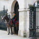 LONDEN - JULI 30: De koningen verzamelen zich Koninklijke Paardartillerie in Whitehal Royalty-vrije Stock Afbeeldingen