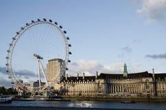 LONDEN - JUNI 16: Het Oog van Londen op 16 Juni, 2012 Royalty-vrije Stock Afbeeldingen
