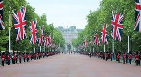 Londen Juni die 2016 - de kleur verzamelen zich Koninginelizabeth's 90ste Verjaardag Royalty-vrije Stock Foto