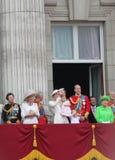 Londen Juni die 2016 - de kleur verzamelen zich Koninginelizabeth's 90ste Verjaardag Stock Fotografie
