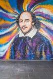 Londen - Maart 30: Een moderne kleurrijke graffiti van William Shakesp Royalty-vrije Stock Afbeelding