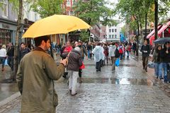 Londen in regen Royalty-vrije Stock Afbeeldingen