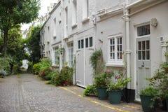 Londen Mews Houses in Zuiden Kensington Stock Foto