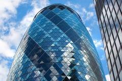 LONDEN, Moderne Engelse architectuur, Augurk de textuur van het de bouwglas Stad van Londen Stock Foto