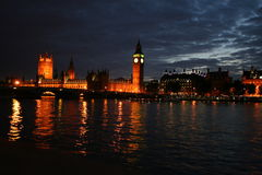 Londen in night2 Stock Afbeeldingen