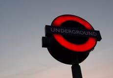 Londen ondergronds Royalty-vrije Stock Afbeelding