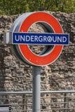 Londen ondergronds Royalty-vrije Stock Afbeeldingen