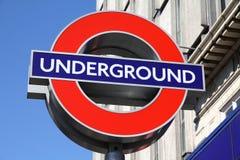 Londen ondergronds Stock Foto's