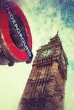 Londen ondergronds en Big Ben Royalty-vrije Stock Foto