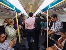 Londen ondergronds in spitsuur Stock Afbeelding