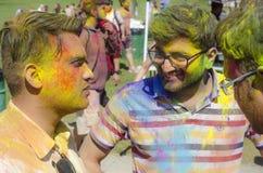 Londen Ontario, Canada - April 16: Niet geïdentificeerde jonge kleurrijk Royalty-vrije Stock Afbeeldingen