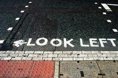 Londen, recht of weggegaan? Stock Foto