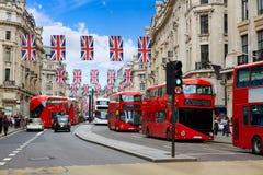 Londen Regent Street W1 Westminster in het UK Stock Afbeelding